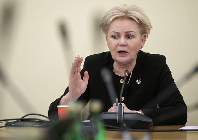 Posłanka PO Krystyna Skowrońska została przewieziona do szpitala karetką