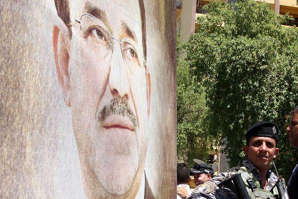 Plakat Nuriego al-Malikiego w Bagdadzie