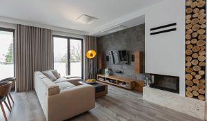 Stonowane mieszkanie urządzone w kolorach ziemi