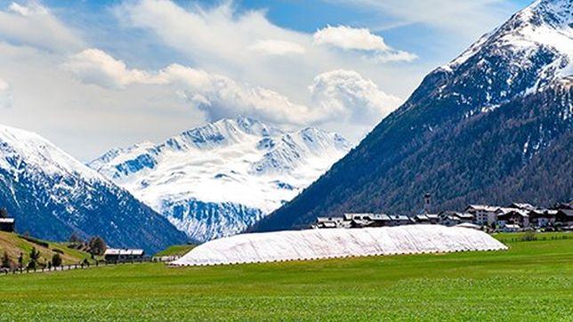 Składowisko śniegu w Livigno