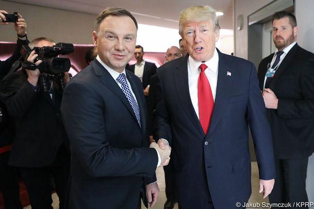 Prezydent Duda spotkał się z prezydentem USA Donaldem Trumpem