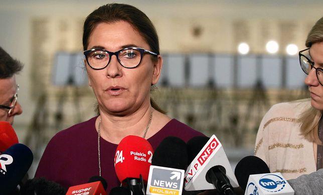 Beata Mazurek skomentowała wniosek na konferencji w Sejmie