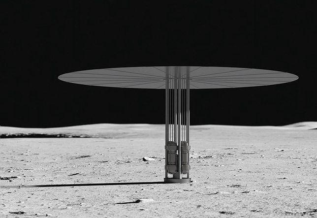 Wizualizacja reaktora jądrowego, który zasili osadę na Księżycu