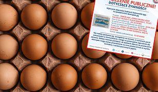 GIS ostrzega przed jajami.