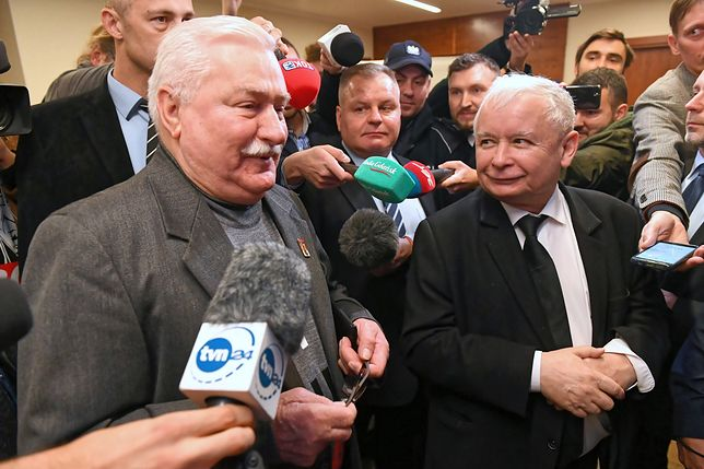 Lech Wałęsa i Jarosław Kaczyński nie szczędzili sobie złośliwości