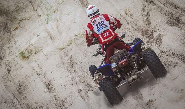 Łaskawiec na mecie Dakaru