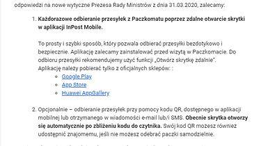 Kuriozum, Paczka i Automat - czyli o paczek niedoli historia prawdziwa - Źródło: newsletter InPost