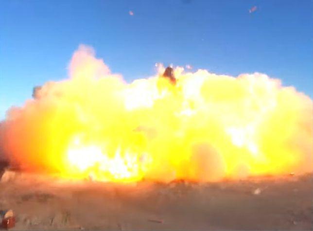 SpaceX Starship SN8 wybuchł w czasie lądowania