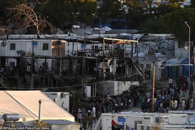 Grecja: Uchodźcy podpalili ośrodek na wyspie Lesbos