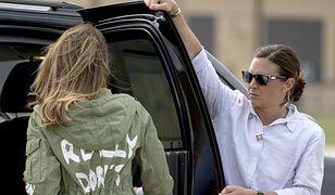 Kurtka Melanii Trump wywołała oburzenie na całym świecie. Ekspert dla WP: to gafa