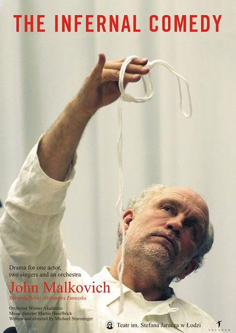 Malkovich w roli Unterwegera, pisarz w roli mordercy