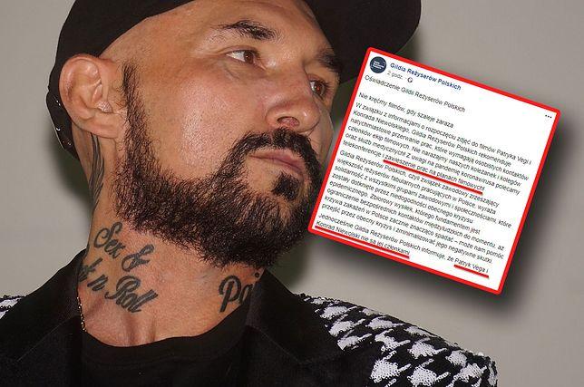 Patryk Vega jest jedną z osób, do których apeluje Gildia Reżyserów Polskich