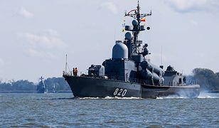 Rosyjski okręt rakietowy klasy Tarantul proj. 12411