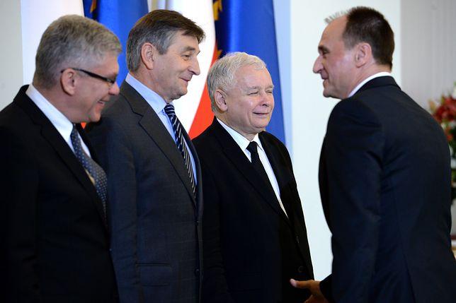 Marszałkowie Senatu i Sejmu, prezes PiS oraz Paweł Kukiz