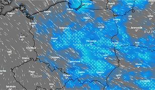Pogoda. Wieczorem strefa burz obejmowała znaczną część Polski