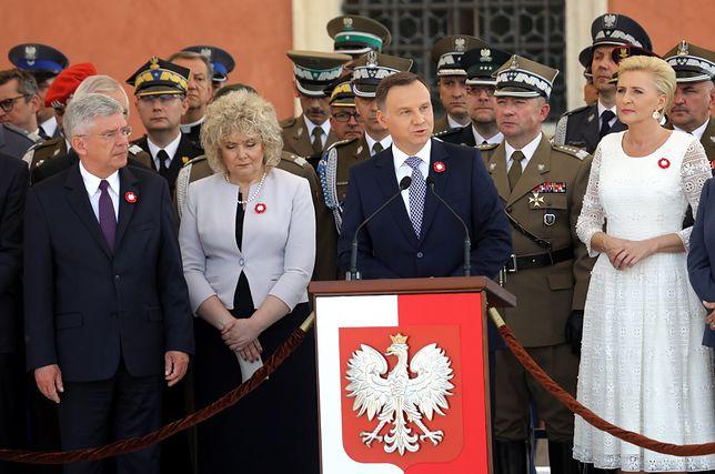 Prezydent Duda na placu Zamkowym
