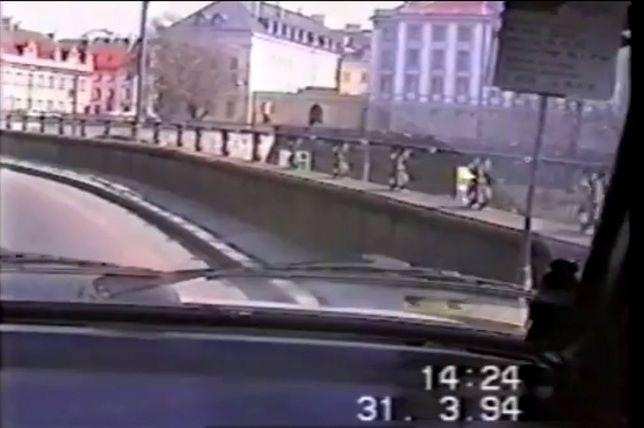Jazda po Warszawie w 1994 roku [WIDEO]