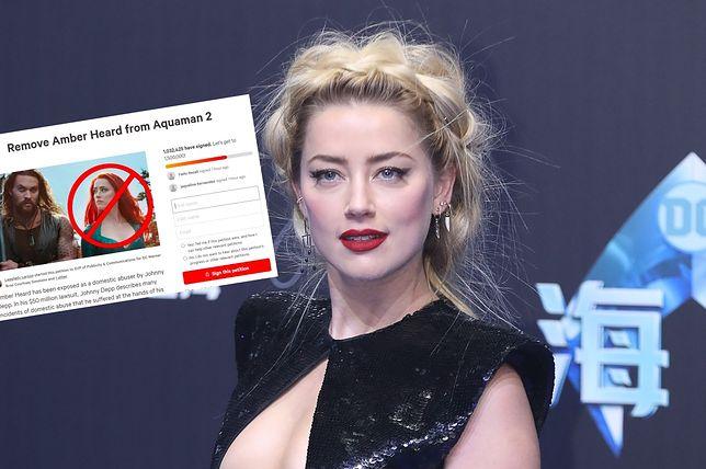 """Amber Heard ma powrócić w filmie """"Aquaman 2"""". Ponad milion osób tego nie chce"""
