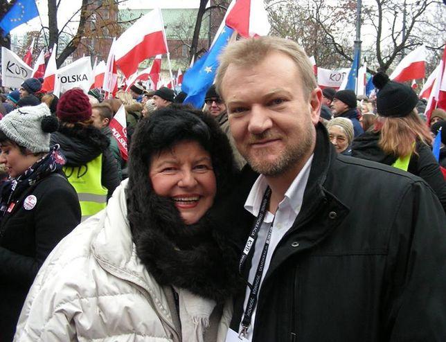 Piotr Musiał (WiR) i Joanna Senyszyn (SLD)