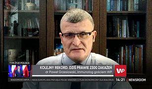 """Koronawirus w Polsce. Rośnie liczba zajętych respiratorów. Dr Grzesiowski: """"To jest prawdziwy problem"""""""