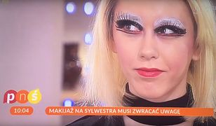 """""""Pytanie na śniadanie"""": Koszmarny makijaż zainspirował polskie gwiazdy"""