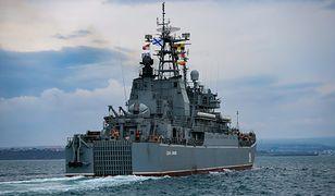 Ruch Rosji w pobliżu Krymu. Flotylla Kaspijska dotarła do celu