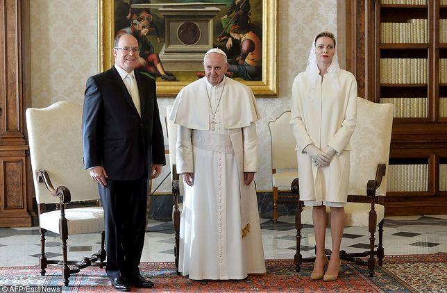 Księżna Charlene, książę Albert i papież Franciszek