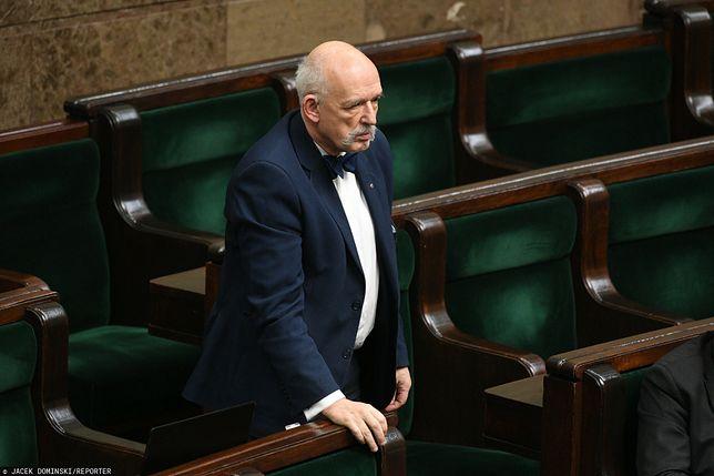 Sejm. Janusz Korwin-Mikke z Konfederacji