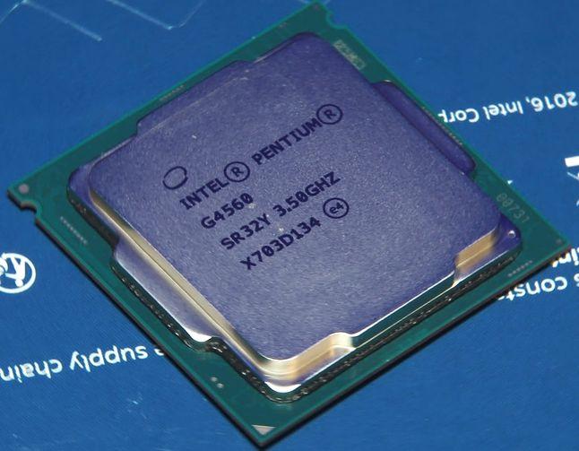 Sprawca całego zamieszania - Pentium G4560, już okrzyknięty mianem kultowego.