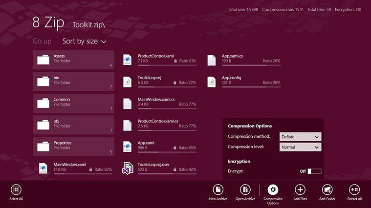 8 zip dla Windows Phone i Windows 8 w jednodniowej promocji za darmo