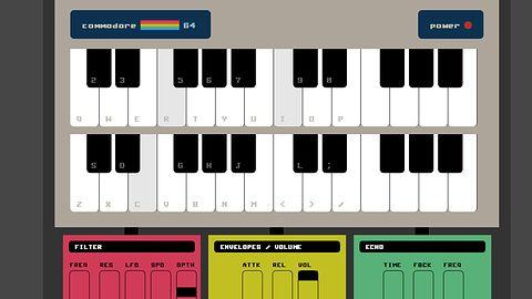 SID z Commodore 64 w przeglądarce dzięki API WebAudio