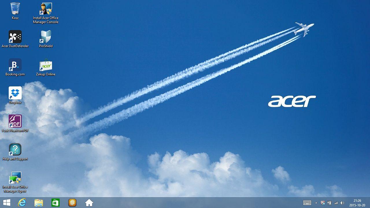 Acer TravelMate P645-S — Windows 8.1 Pro i soft od Acera