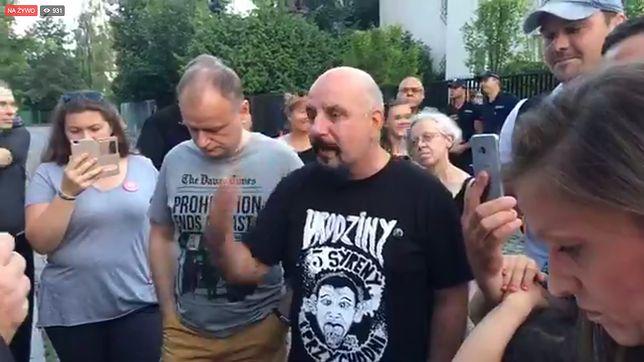 Manifestacja pod domem Jarosława Kaczyńskiego