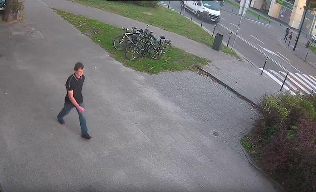 Atak na synagogę w Gdańsku. Policja publikuje nagranie. Poznajesz sprawcę?