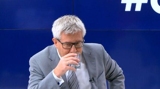 Małgorzata Sadurska powinna zostać wiceszefową PZU? Czarnecki nabrał wody w usta. Dosłownie