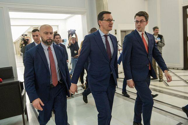 Sąd Najwyższy i uchwała ws. KRS. Premier Mateusz Morawiecki i rzecznik rządu