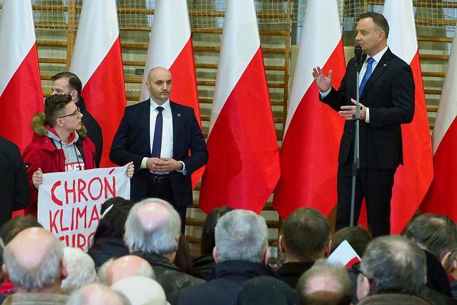 Bartek Marzec wszedł na spotkanie z Andrzejem Dudą w Lubartowie