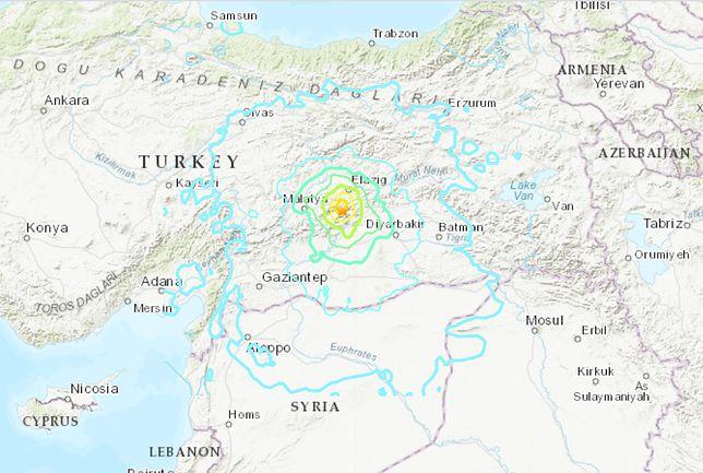 Silne trzęsienie ziemi na wschodzie Turcji