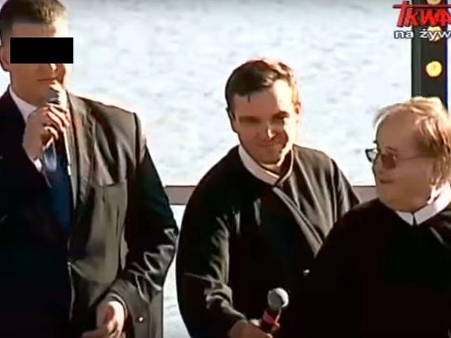 Bartłomiej M. i ojciec Tadeusz Rydzyk