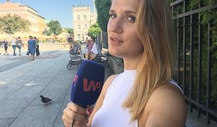 Reporterka Karolina Rogaska w Radomiu