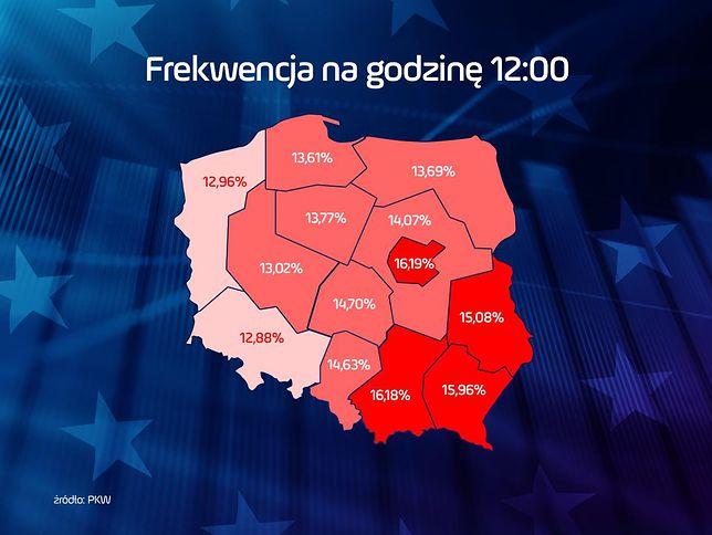 Wybory do Europarlamentu 2019. Frekwencja na godzinę 12. Rekord to mało powiedziane!