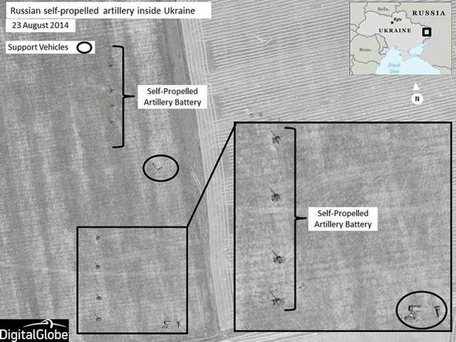 Rosyjskie wojska na Ukrainie. NATO publikuje zdjęcia