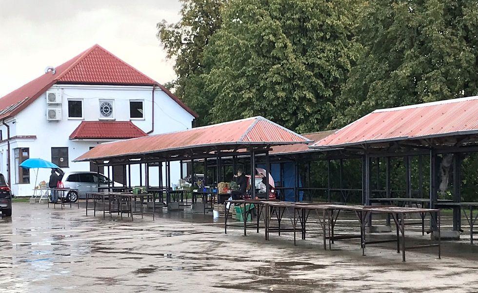 Targowisko w Braniewie.