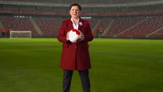 Beata Szydło na Stadionie Narodowym
