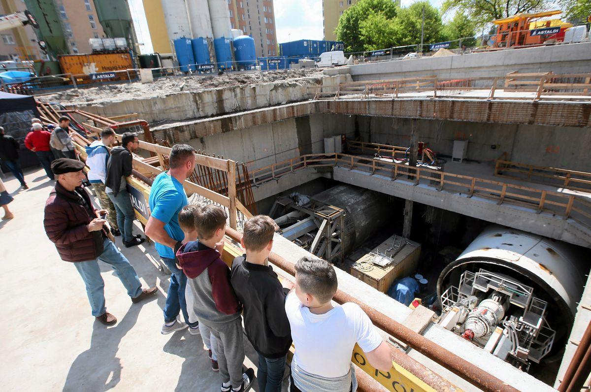 Dzień otwarty na budowie drugiej linii metra