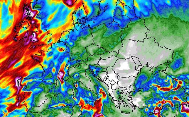 Pogoda. Zmiana w prognozach. Święta zapowiadają się deszczowe (wxcharts.com)