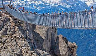 W Kanadzie otwarto most zawieszony 2 tys. m nad dnem wąwozu