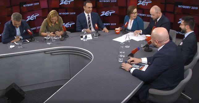 Krzysztof Gawkowski - Lewica, Barbara Nowacka - Koalicja Obywatelska, Dariusz Klimczak - PSL, Radosław Fogiel - PiS i Bartłomiej Pejo - Konfederacja wzięli udział w debacie