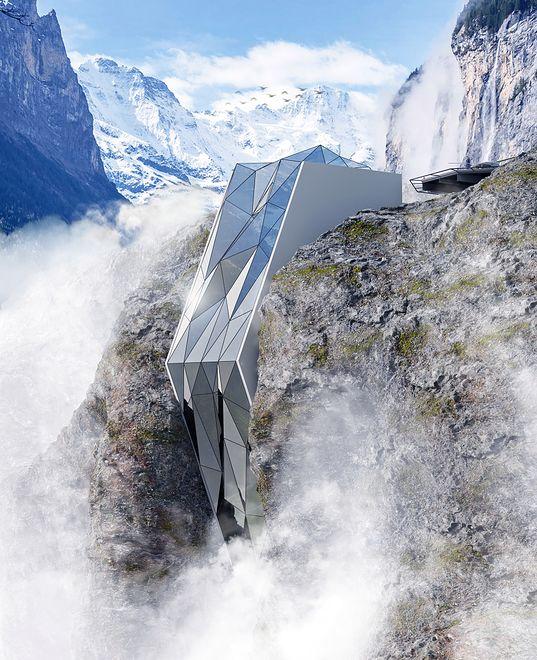 W Alpach powstanie hotel przypominający wielki, górski kryształ?