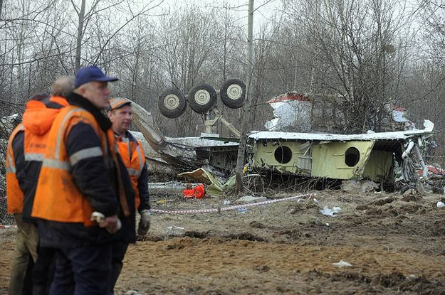 Miejsce katastrofy Tu-154M pod Smoleńskiem.